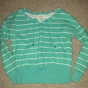 aerie striped crew neck